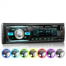 AUTORADIO CON 7 COLORI BLUETOOTH VIVAVOCE USB SD AUX MP3 SINGOLO 1DIN SENZA CD