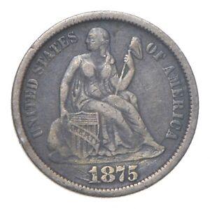 Full Liberty - 1875-CC Seated Liberty Silver Dime *210