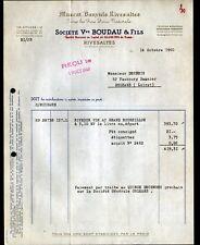 """RIVESALTES (66) VINS & MUSCAT """"Vve BOUDAU & Fils"""" en 1960"""