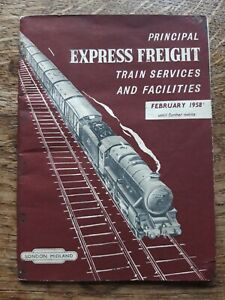 British Railways Express Freight Train Services booklet leaflet 1958.