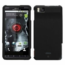 Hard Rubberized Case for Droid X MB810 - Black