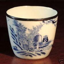 """""""Bleu de Huê"""", petit bol en porcelaine blanche translucide à décors bleu, XIX°"""