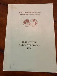 1978 FIFA WORLD CUP REGULATIONS BOOKLET, ENGLISH LANGUAGE