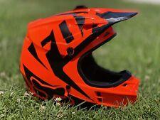 Fox Racing V1 Off-Road MX Helmet Adult L Race Orange Dirt Bike Atv