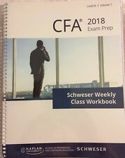 2018 CFA Exam Level 3 (III) Kaplan Schweser Weekly Class Workbooks/ Books v.1&2