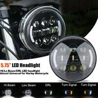 """5 3/4 5.75"""" LED Phare avant DRL Clignotant Pour Harley Davidson Sportster Dyna"""