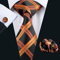 SN-344 Men's 100% Jacquard Woven Silk Neckties Tie+Hanky+Cufflinks Sets Free P&P