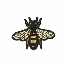 Bee / Fly / Bug XS (Iron on) Embroidery Applique Patch Sew Iron Badge