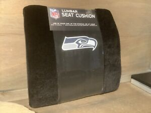 SEATTLE SEAHAWKS Football Seat LUMBAR SEAT CUSHION WITH STRAPS NEW