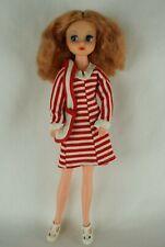 Otto Simon FLEUR auburn hair ballerina Dutch Sindy doll #1237 Red striped dress