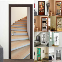 2pcs/Set Self-adhesive PVC Waterproof Tavern Wooden Door Stickers Home Decor
