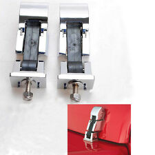 1 Pair Silver Hood Lock Catches Latches Kit for Jeep Wrangler JK 2007-2016