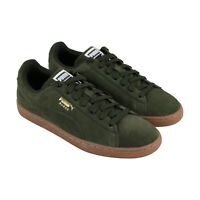 Puma Suede Classic 36534746 Mens Green Lace Up Low Top Sneakers Shoes