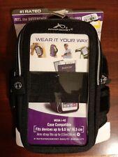 "(2C1) Armpocket Mega i-40 Armband fits up to 6.5"" Phone Black Medium Strap"