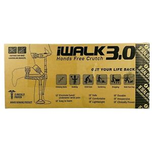 iWALK3.0 Hands Free Crutch - Adjustable Pain Free Knee Walker Assistance Device