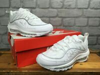 NIKE LADIES AIR MAX 98 SE WHITE SILVER MESH LEATHER TRAINERS RRP £145 T