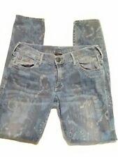 """True religion jeans size 26 womens straight leg butterfly pattern 30""""x 30"""""""