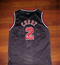 526d2e1a7d3 Eddy Curry 2 Chicago Bulls NBA Champion Boys Black Red Basketball Jersey M  10-12
