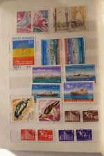 ROMANIA BOOK STAMPS USED & MH  LOT  1955 -1970 space