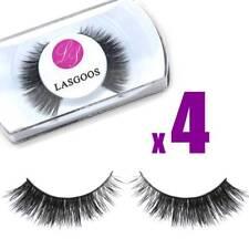 4 Pairs 100% Mink Adjustable Soft False Eyelashes School Life Eye Lash Style 005
