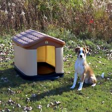 Tuff-N-Rugged Large All Weather Double Insulated Dog House Brown 33 x 32 x 45