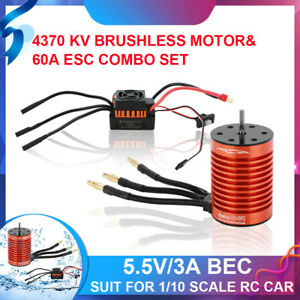 9T Waterproof Brushless Motor 60A ESC Speed Controller Combo For 1/10 RC Car UK