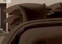 1000 Thread Count Egyptian Cotton USA-Bedding Items All Sizes Chocolate Striped