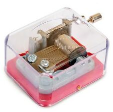 NEW CLEAR TRADITIONAL WIND UP MUSIC MAKER BOX ROW ROW ROW YOUR BOAT TOBAR