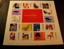 US Stamp Scott# 4333 Charles & Ray Eames  2008 Pane of 16 & Label MNH BKL24