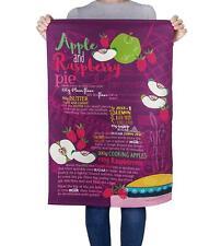 Apple & Raspberry Pie Recipe - 100% Cotton Tea Towel 70 x 48cms - Joanne de Pace