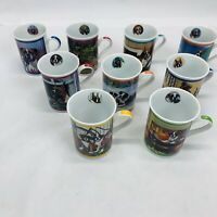 Danberry Mint Lot Of 9 Beautiful Boxer Porcelain Collection Coffee Mugs