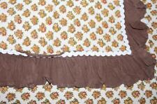 Shabby Chic Vintage BETTWÄSCHE Garnitur fabric STOFF 70er 70s Baumwolle cotton