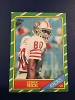 1986 Topps # 161 JERRY RICE ROOKIE RC REPRINT San Francisco 49ers HOT LOOK !!