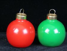 Vintage Christmas Tree Bulb Salt and Pepper Shaker  Green and Red  FREE SHIPPING