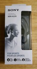 Sony Earphones MDR-AS210 Black Brand New Water Resistant. Free shipping