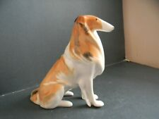 LOMONOSOV USSR PORCELAIN BORZOI DOG FIGURINE