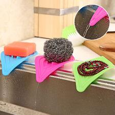 FM- Antiskid Soap Box Holder Simple Sink Sponge Drain Soap Dish Storage Efficien