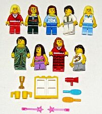 LEGO LOT OF 9 NEW FEMALE GIRL MINIFIGURES FIGURES FRIENDS TOWN CITY WOMEN FIGS