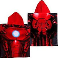 """Marvel Avengers Assemble """"IRONMAN"""" Hooded Poncho Bath Towel RED"""