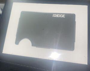 The Ridge Slim Minimalist Pocket RFID Blocking Metal Wallets Men Money Clip