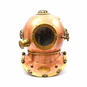 Anchor Engineering Diving Divers Helmet~Deep Sea Scuba Navy Marine Morse Helmet