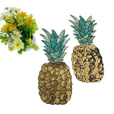 Sequined Patch Big Applique Pineapple Patches Stickers for clothes Jacket DIY