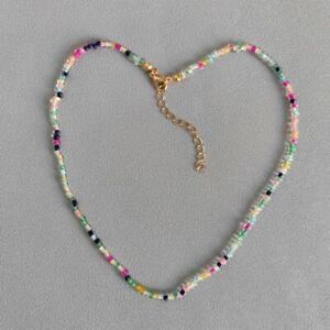 Bohemia Colorful Short Seed Bead Choker Necklace Bracelet Women Jewelry Gifts