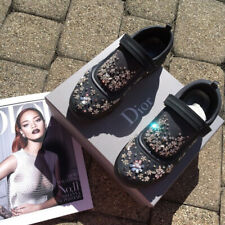 Baskets Fusion Christian Dior by Raf Simons Black Sneakers with strass diamonds
