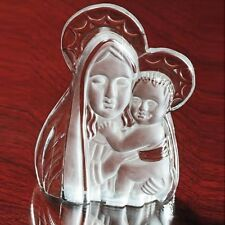 3-D Crystal Jesus & Mary Figurine Madonna & Child deluxe Frosted highlights New