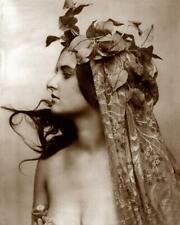Art Nouveau - Woman Vines & Fabric Draped Over Head -Fitz W. Guerin 8x10 Reprint