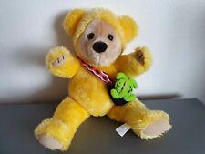 Official 1999 CITV 'Teddybears' Plush Soft Toy Robert Yellow Bear & Philip Frog