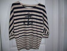 Coldwater Creek Anchor Top Size XS