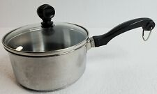 Farberware 1 Quart Durable Stainless Steel Saucepan Pot with Glass Lid Q10T
