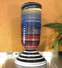 New ListingTall Peter Shire Hand Thrown Pottery Vase, Postmodern Memphis Milano Ceramics